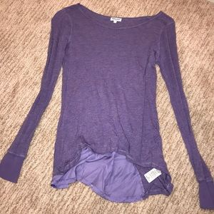 Long sleeve purple sparkly top